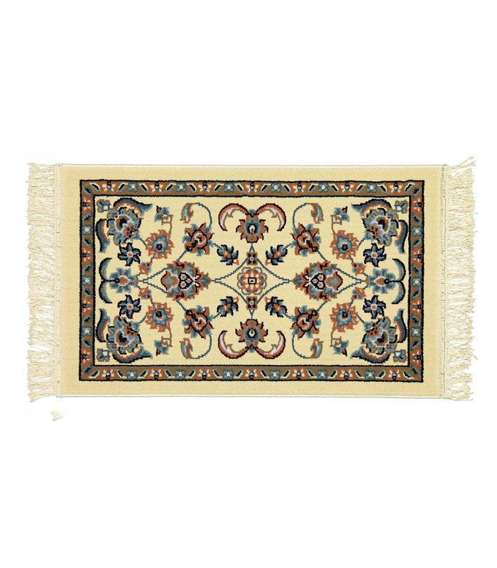 فرش ماشینی ساوین کد 2106 زمینه کرم شتری